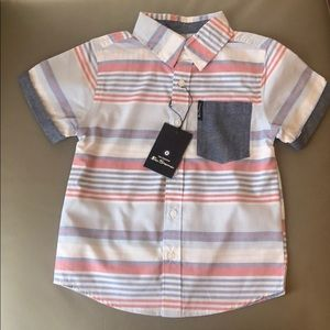 Button Down Short Sleeve Shirt Size 4 NWT